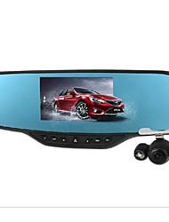 v8 зеркало заднего вида вождения рекордер двойной объектив 4,3-дюймовый HD широкоугольный ночного видения камеры интегрированы изображения