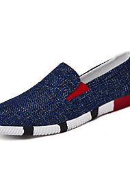 Young Fashion Men's Breathable Linen Fabric Slip-on Loafers for Casual Style for Walking/Trip