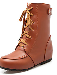 Women's Shoes Fashion Boots / Combat Boots / Round Toe Boots Office & Career / Dress / Casual Low Heel Buckle