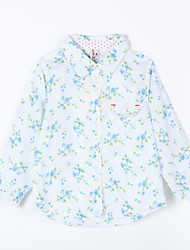 Girl's Casual/Daily Print Blouse,Cotton Fall