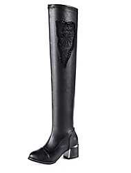 Women's Heels Spring / Fall Heels / Motorcycle Boots Leatherette Office & Career / Party & Evening / Casual Chunky