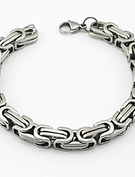 Fashion Men's The Great Wall Pattern 316L Stainless Steel Chain Bracelets Christmas Gifts