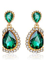 Tropfen-Ohrringe Smaragd Imitation Smaragd Kubikzirkonia Zirkon Kubikzirkonia Geburtssteine Grün Schmuck Hochzeit Party 1 Set