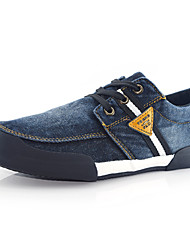 Men's Denim Casual Flat Heel Lace-up Black / Blue Walking EU39-42