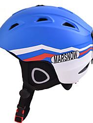 Универсальные шлем Л: 58-61CM Спортивные Ультралегкий (UL) Фиксированный 14 CE EN 1077 Снежные виды спорта / Лыжи СинийПоликарбонат /