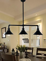 MAX60W Flush Mount ,  Traditional/Classic / Vintage / Retro / Country Painting Feature for Mini Style MetalLiving Room