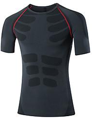 Newest Men Gym Fitness Sport Short Sleeve T Shirt Men Running Basketball Training Breathable Compression Shirt 1PC