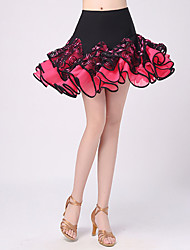 Latin Dance Tutus & Skirts Women's Performance Polyester Pattern/Print / Ruched 1 Piece