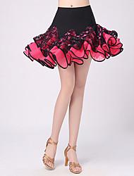 Latin Dance Tutus & Skirts Women's Performance Polyester Pattern/Print / Ruched 1 Piece