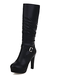 Women's Boots Spring / Fall / Winter Fashion Boots Leatherette Wedding / Outdoor / Dress / Casual Chunky Heel