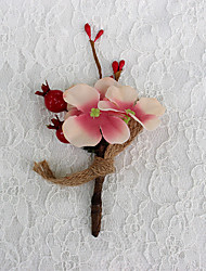"""Wedding Flowers Free-form Roses Decorations Wedding Polyester 0.39""""(Approx.1cm)"""