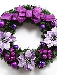 40cm Purple Bow Decoration Christmas Ornament Christmas Wreath Door Ornaments