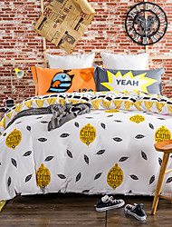 800TC bedding sets Queen King size Bedlinen printing sheets pillowcases Duvet cover sanding Cotton Fabric