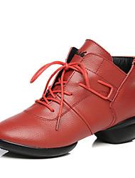 Keine Maßfertigung möglich-Niedriger Heel-Leder-Tanz-Turnschuh / Modern-Damen