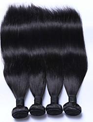 Человека ткет Волосы Малазийские волосы Прямые 6 месяца 4 предмета волосы ткет