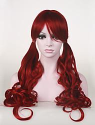 la chaleur de haute qualité japonaise cheveux synthétiques sombre costume de cosplay anime rouge ok longue perruque
