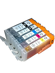 adapté pour cartouche d'imprimante d'un groupe de cinq couleurs noir, rouge, jaune, bleu, gris