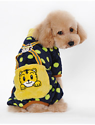 Perros Mono Negro / Rosado / Amarillo / Naranja Invierno Caricaturas / Lunares Mantiene abrigado, Dog Clothes / Dog Clothing-Other