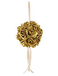 6inch(15cm)Shimmering Powder Foam Rose Flower Ball for Wedding Decoration
