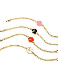 Bohemian Rhinestone Chain Bracelets Golden Plane Bracelet Fashionable Geometric Alloy Jewellery