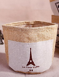 Cotton Fabric Debris Storage Box Desktop Storage Box