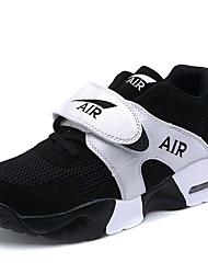 Da donna-Sneakers-Sportivo-Comoda-Piatto-Tulle-Nero