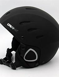 Capacete Unisexo Capacete Desporto neve Ultra Leve (UL) / Esportivo Capacete de Segurança Preto Capacete de neve CE EN 1077 PC / EPS