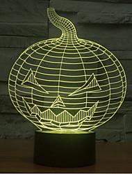 Kürbis Touch Dimm-3D LED-Nachtlicht 7colorful Dekoration Atmosphäre Lampe Neuheit Beleuchtung Weihnachtslicht