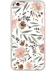 Pour Coque iPhone 6 Coques iPhone 6 Plus Etanche à la Poussière Antichoc Motif Coque Coque Arrière Coque Fleur Dur Polycarbonate pour