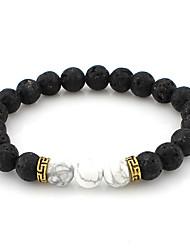 Strand Bracelets 1pc,White / Blue / Green Bracelet Vintage Circle 514 Alloy Jewellery