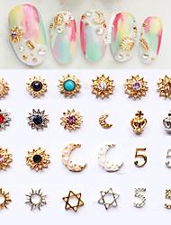 5pcs Nail Diamond Jewelry Random Color