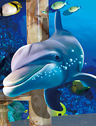 JAMMORY 3D Wallpaper For Home Contemporary Wall Covering Canvas Material Underwater World Dolphin3XL(14'7''*9'2'')