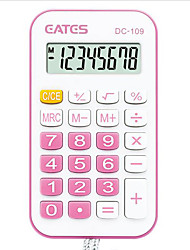 (Random color)1PC Students Portable Belt Line Electronic Calculator