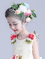 Для девочек Ткань / Сеть Заставка-Свадьба / Особые случаи Цветы / Фата клетки птицы 1 шт.
