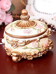 Home Crafts Resin European Round Jewelry Box