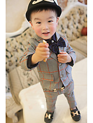 Boy's Formal Patchwork Suit & Blazer / Clothing Set,Cotton Spring Blue / Gray