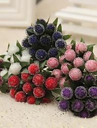 12 12 Ramo Plástico Fruta Flor de Mesa Flores artificiais 1*12