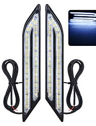 exled универсальный водонепроницаемый белый / синий / красный 66-светодиодные фары дневного противотуманные фары для автомобиля (пара)