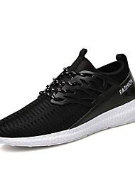Femme-Décontracté-Noir / Bleu / Blanc / Gris-Talon Plat-Styles / Bout Arrondi-Sneakers-Tulle