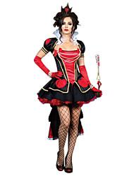 Costumes Zombie / Vampire / Sorcier / Ange et Diable Halloween / Noël / Carnaval Rouge / Noir Vintage Térylène Robe