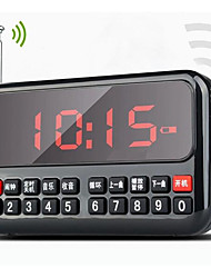 L82 Langin alarma mini altavoz de la radio reloj inteligente canción de audio digital mp3 del coche