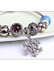 Bracelet Chaînes & Bracelets / Bracelets de rive Argent sterling Forme de Cercle Vintage Décontracté Bijoux Cadeau Bleu,1pc