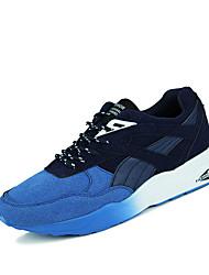 Herren-Sneaker-Lässig-Tüll-Flacher Absatz-Komfort-Schwarz / Blau / Grau