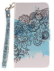 Painted Butterfly Flower Pattern Card Can Lanyard PU Phone Case For LG G3 G4 G5 K7 K8 K10