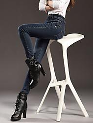 Pantalon Aux femmes Slim / Jeans simple Polyester Micro-élastique