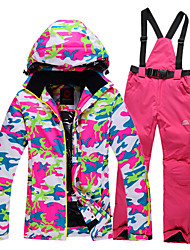 Ski Wear Ski/Snowboard Jackets / Clothing Sets/Suits Women's Winter Wear Polyester Camouflage Winter ClothingWaterproof / Thermal / Warm