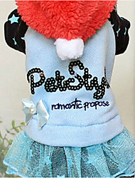 Dog Hoodie / Dress Blue / Pink Winter Letter & Number Keep Warm, Dog Clothes / Dog Clothing