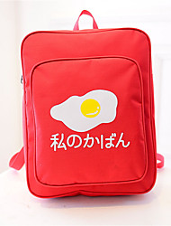 Women Poached Eggs Printing Japanese Shoulder Students  Schoolbag Couple Sports  Casual Tote  Backpack  Travel Bag