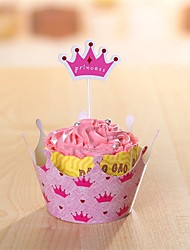 Cupcake Decorations Set 12PC(Cupcake Toppers & Cupcake Wrapper Liner) Party Birthday