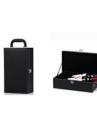 The Wine Box Double Pack Wine Box Single High-Grade PU Leather Gift Box Black Wine Box